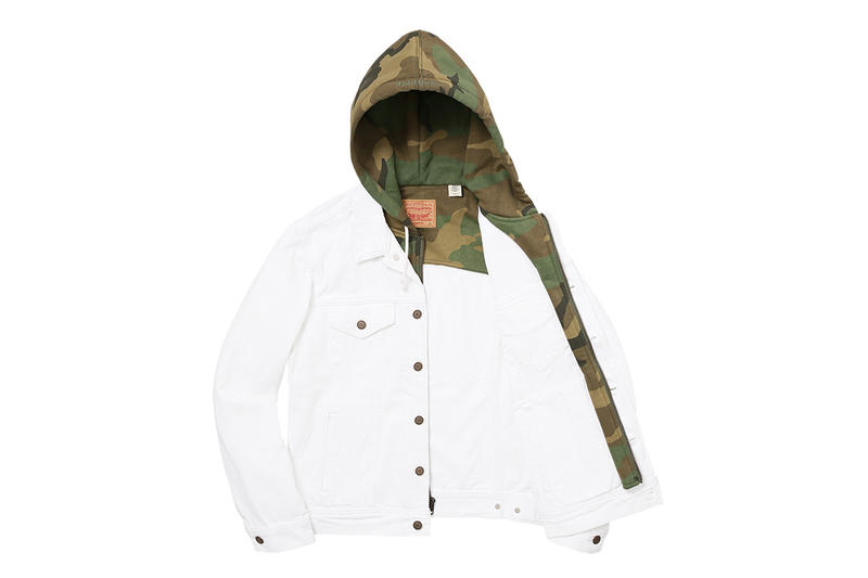 Supreme x Levi's 2017 Jacket White Green Open