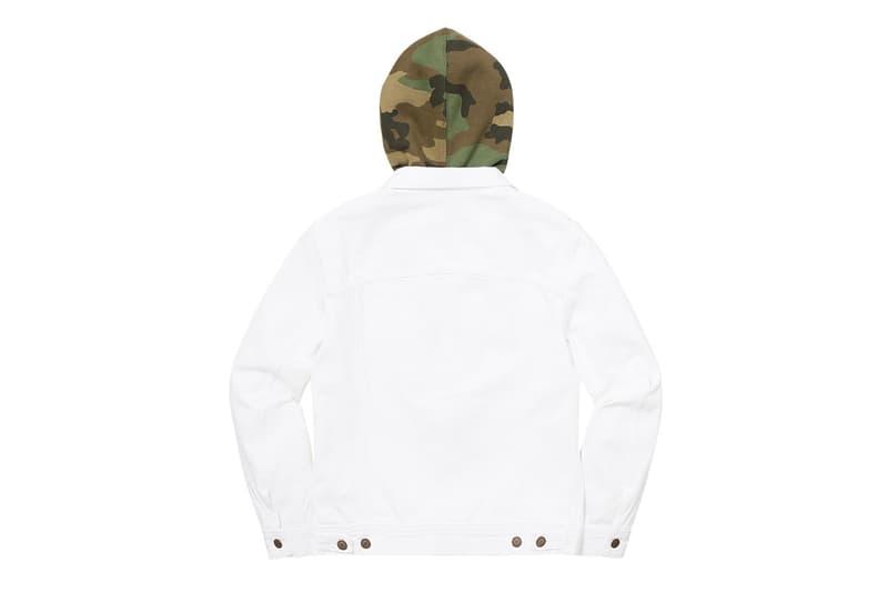 Supreme x Levi's 2017 Jacket White Green Back