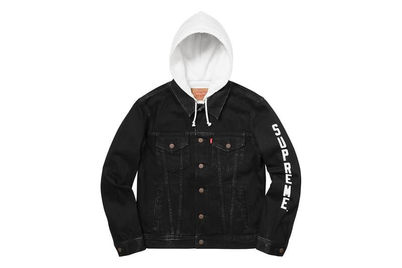 Supreme x Levi's 2017 Jacket Black White