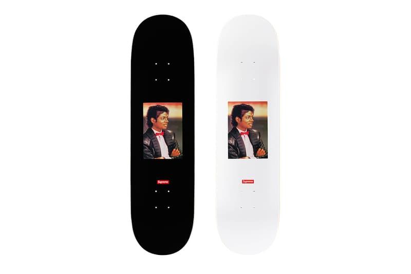 Supreme Michael Jackson 2017 Collection Skate Deck Black White Skateboard