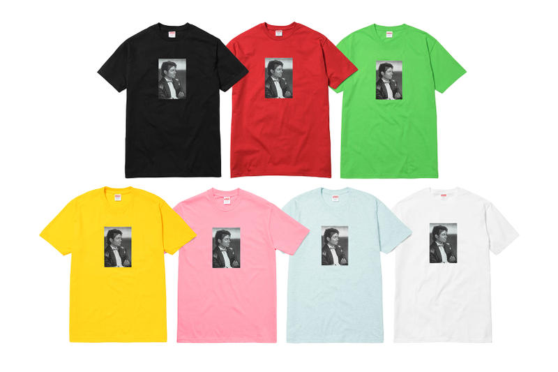 Supreme Michael Jackson 2017 Collection T-Shirts Black Red Green Yellow Pink Baby Blue White