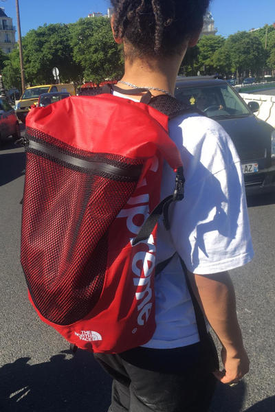 Supreme The North Face 2017 Summer Gear Backpack Camo Waist Bag Red Equipment Teaser Waterproof