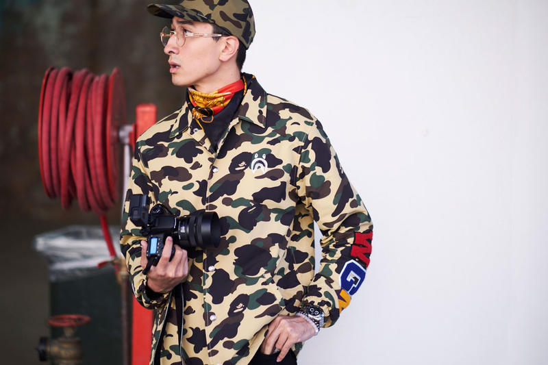 Streetsnaps  Sydney Fashion Week 2017 Brought out Fashionistas in BAPE ee1405c2885