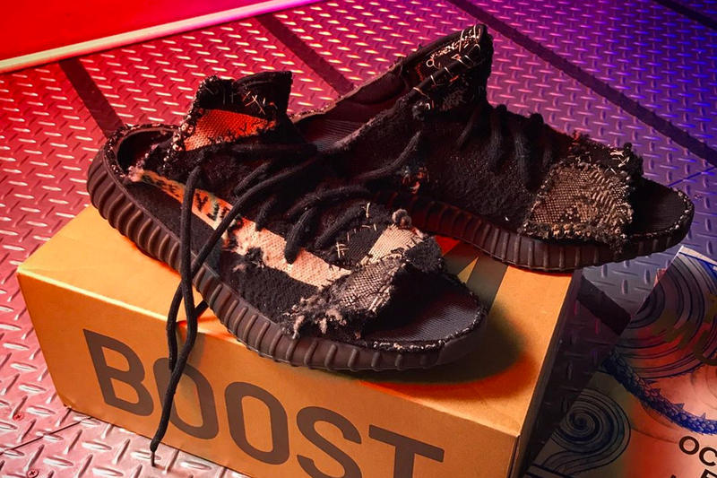 17f4aea85fa Takashi Murakami Creates Custom YEEZY BOOST 350 V2 Sandals