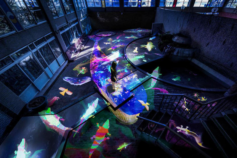 teamLab Japan Mifuneyama Rakuen Park Light Installations Artwork
