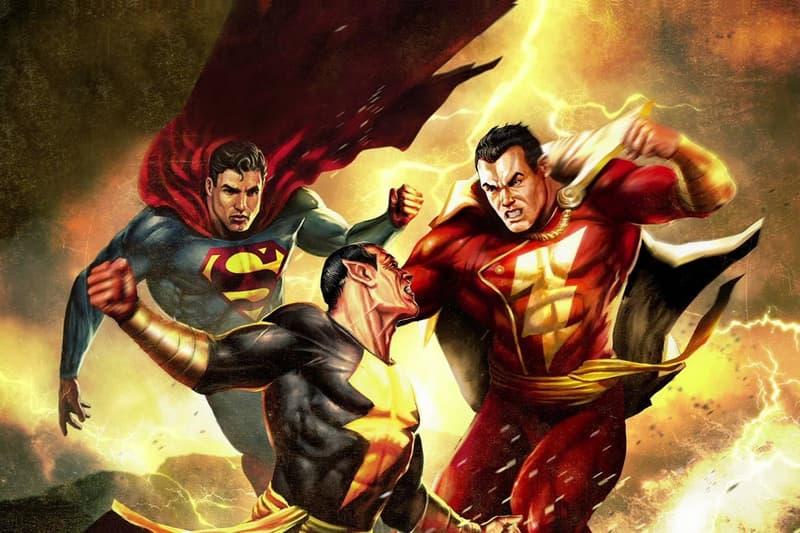 The Rock Black Adam Shazam Superman Battle