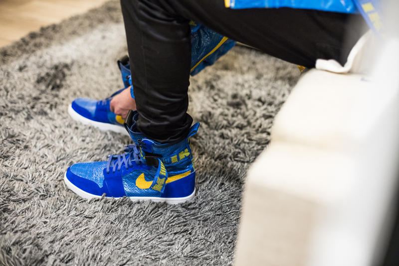 60f80bc3c241 The Shoe Surgeon Air Jordan 1 x IKEA Custom