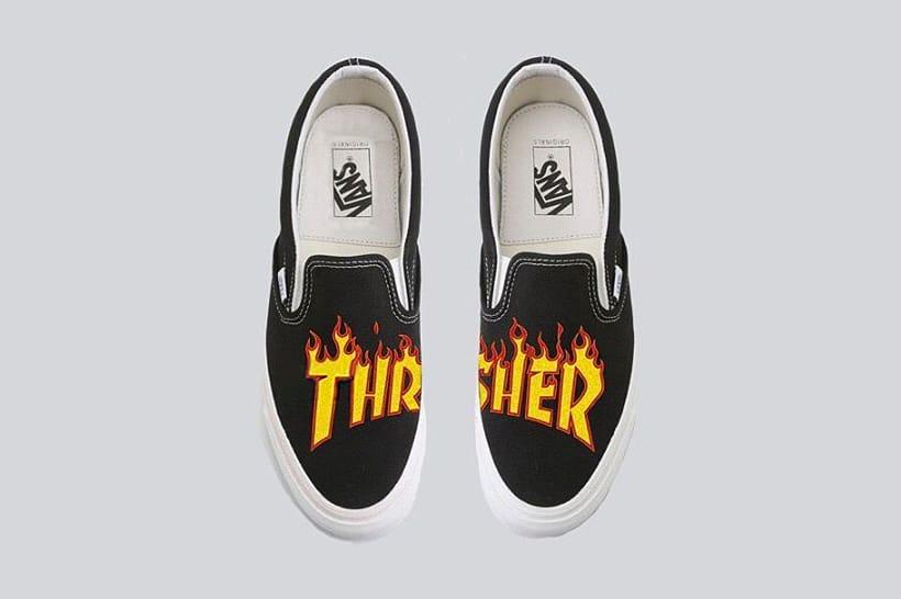 Thrasher x Vans Collaborative Sneakers