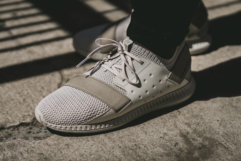 Under Armour Threadborne Shift Sneaker beige side view