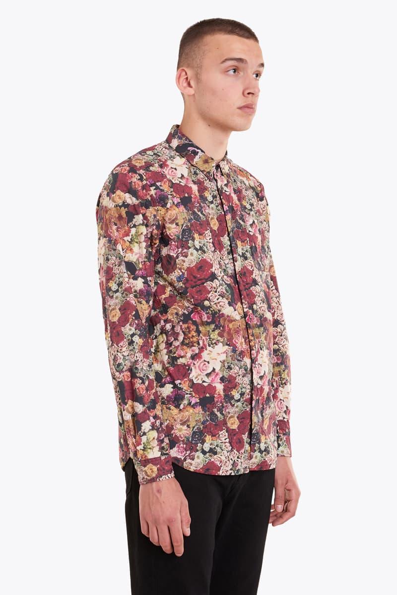 UNDERCOVER Red Flower Print Shirt 2017 Spring/Summer Jun Takahashi