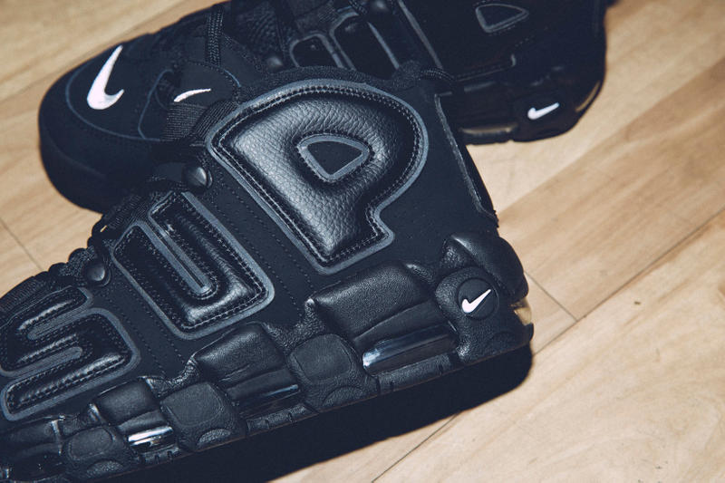 Supreme x Nike Air More Uptempo SUPtempo Black 3M