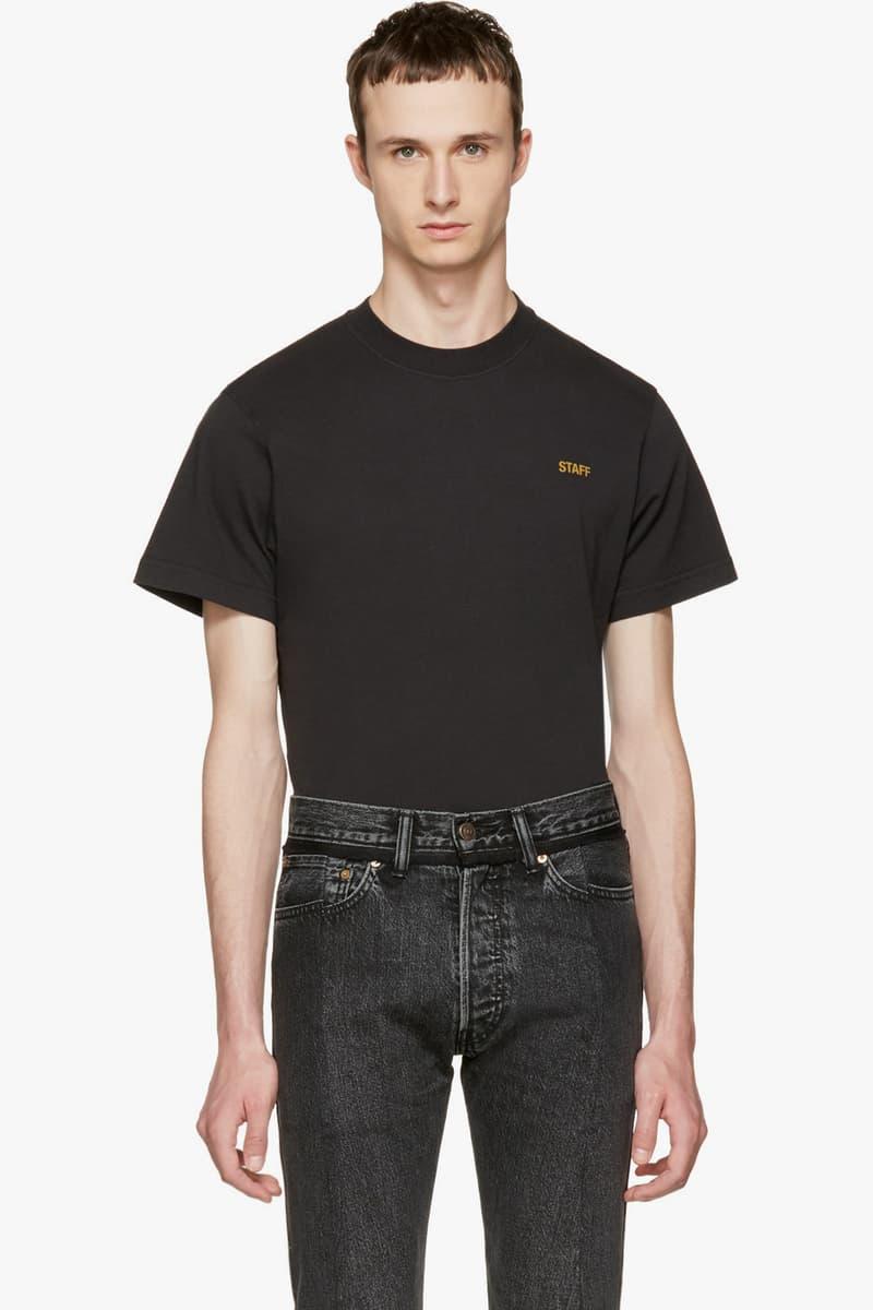 "Vetements ""Staff"" T-Shirt 2017 Spring Summer"