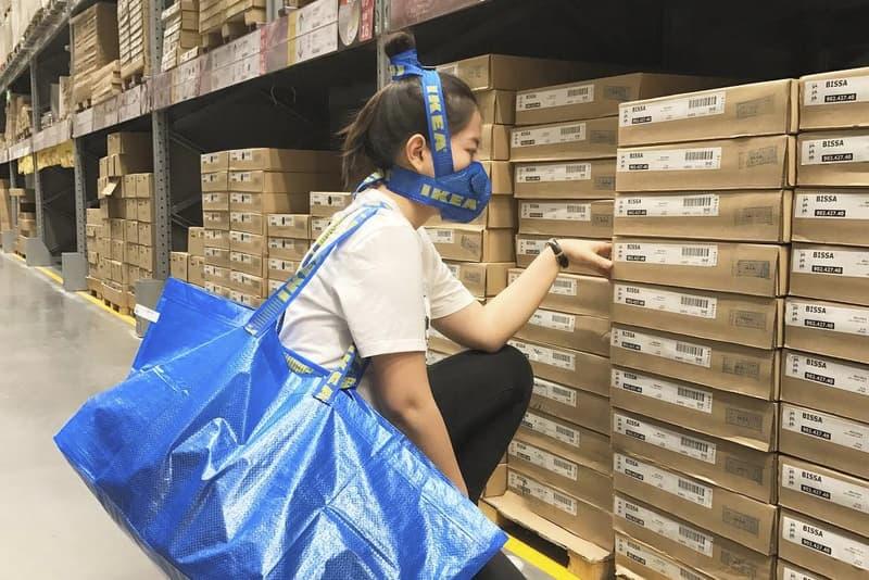 Zhijun Wang IKEA Mask Blue Carrying Bag