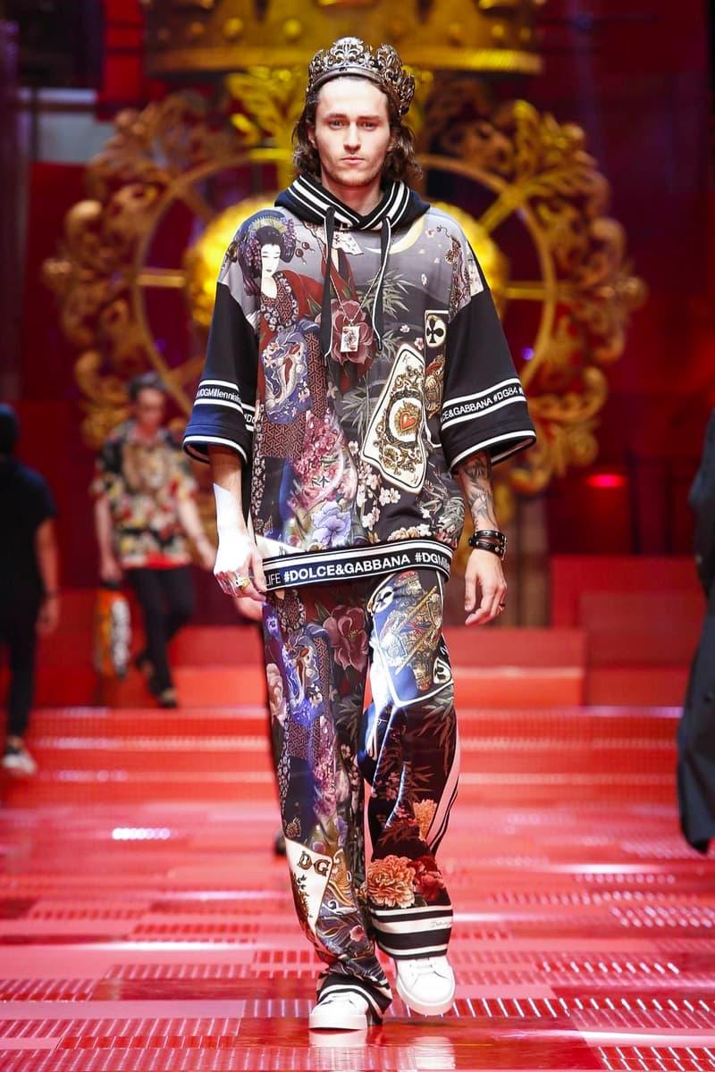99b18d8aab73 Dolce & Gabbana Spring Summer 2018 Collection Milan Fashion Week Men's