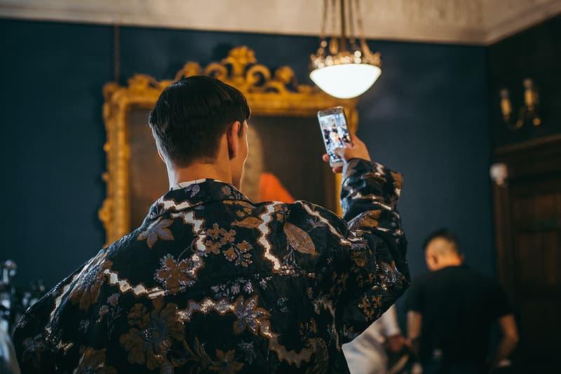 Edward Crutchley London Fashion Week Men's Backstage Images