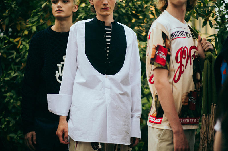 J.W. Anderson Spring/Summer 2018 Pitti Catwalk Show Backstage