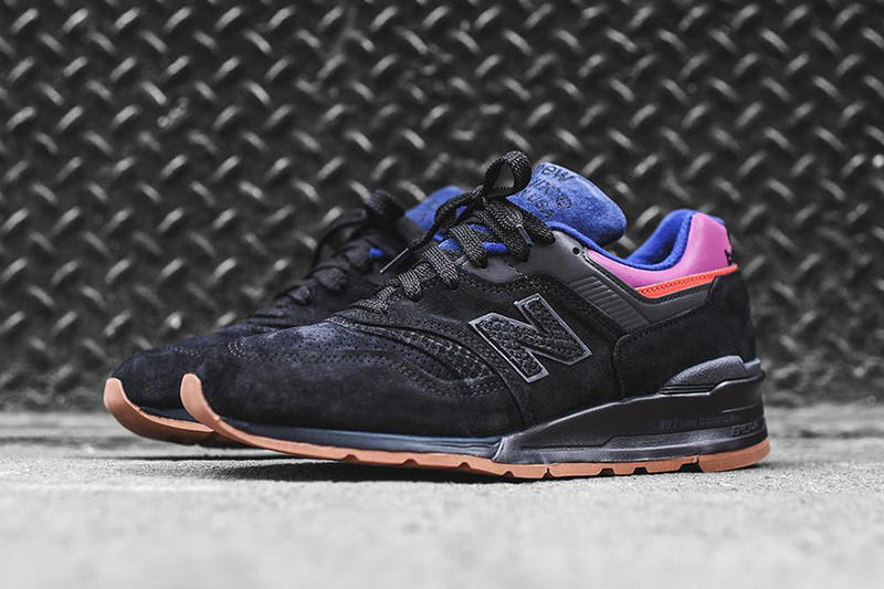 New Balance 997 Magnet Colorway Black Purple Pink Red N Logo Suede Gum Brown Rubber Sole