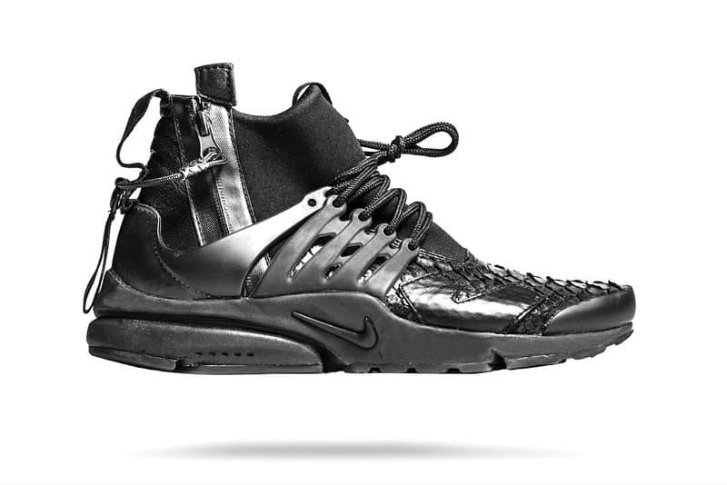 The Shoe Surgeon NikeLab ACRONYM Air Presto Mid Custom Black Python