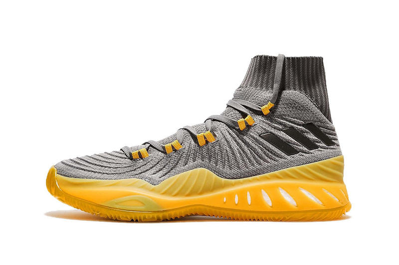 separation shoes 1dbe2 6564d adidas Crazy Explosive 2017 Primeknit Grey Yellow