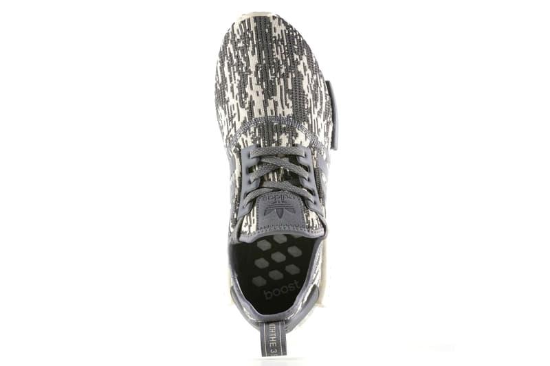 adidas NMD R1 Primeknit Glitch Camo Grey Linen