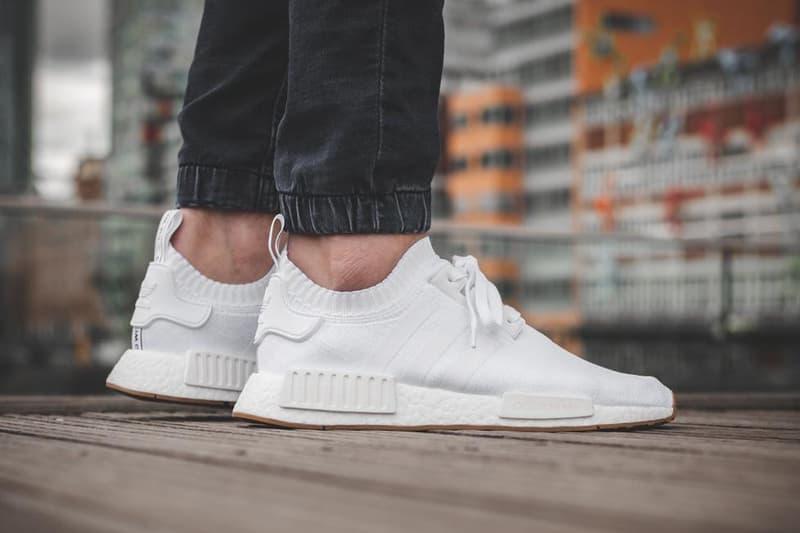 adidas NMD R1 Gum Pack Black White On Feet