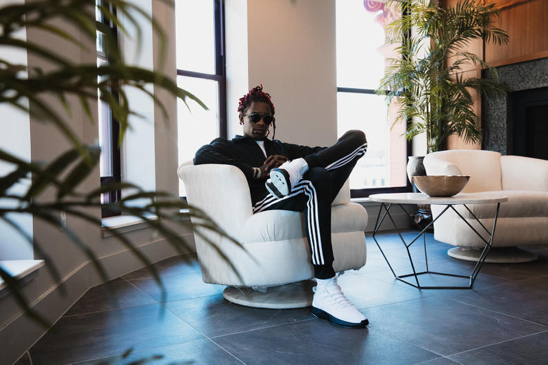 "Young Thug and Playboi Carti Gear Up in adidas Originals ""Crazy"" Campaign Thugger Carti Hip Hop Rap Trap Music game 3 NBA Finals Cleveland Cavaliers Golden State Warriors NBA finals 2017"