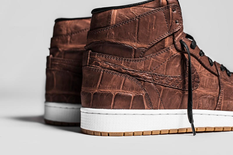 The Shoe Surgeon Custom Air Jordan 1 Vintage Crocodile Skin