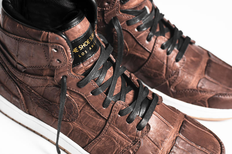 The Shoe Surgeon Custom Air Jordan 1 Vintage Crocodile Skin