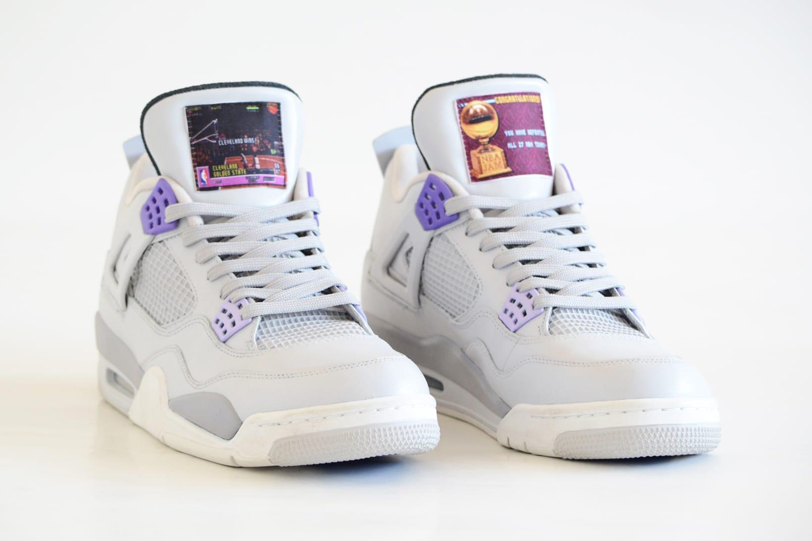 Air Jordan 4 SNES US Custom Sneakers