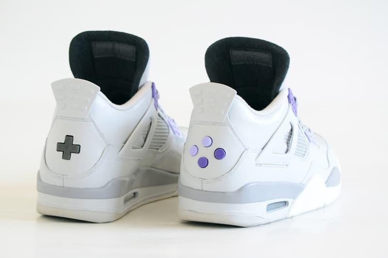 Air Jordan 4 SNES US NBA Jam Custom Sneakers