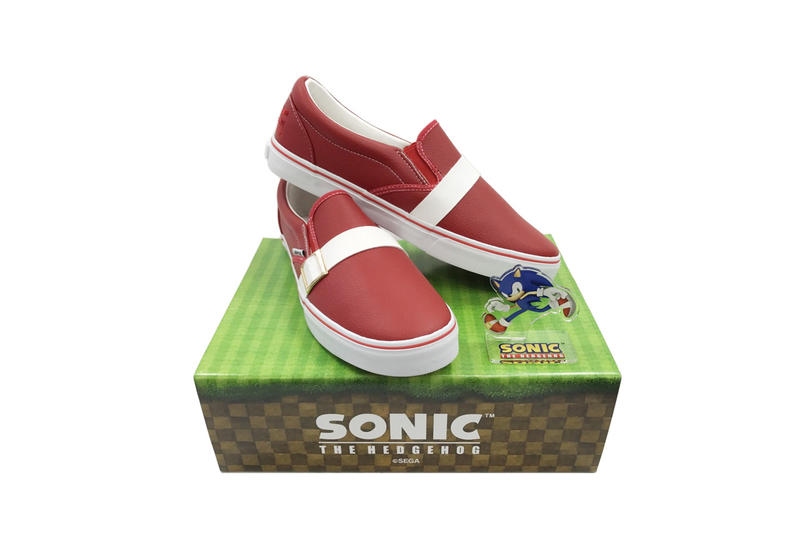 Anippon Sonic the Hedgehog Slip-On Sneakers Footwear Shoes Video Game Cartoon Characters Sega