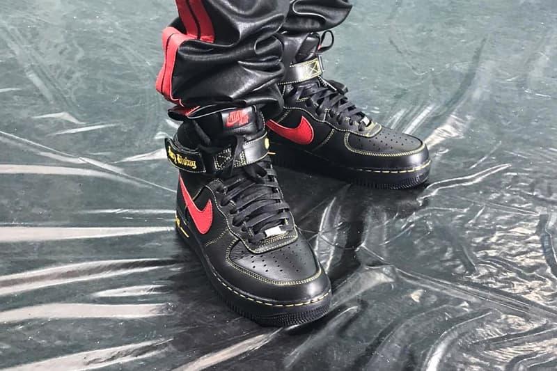 ASAP Bari VLONE Nike Air Force 1 High Black Red Yellow