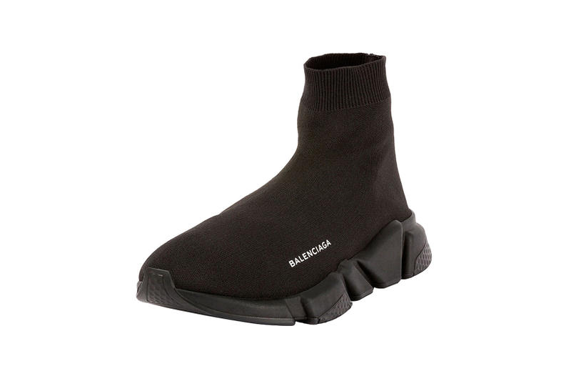 3dfd3b544586 Balenciaga Speed Trainer Triple Black Demna Gvasalia
