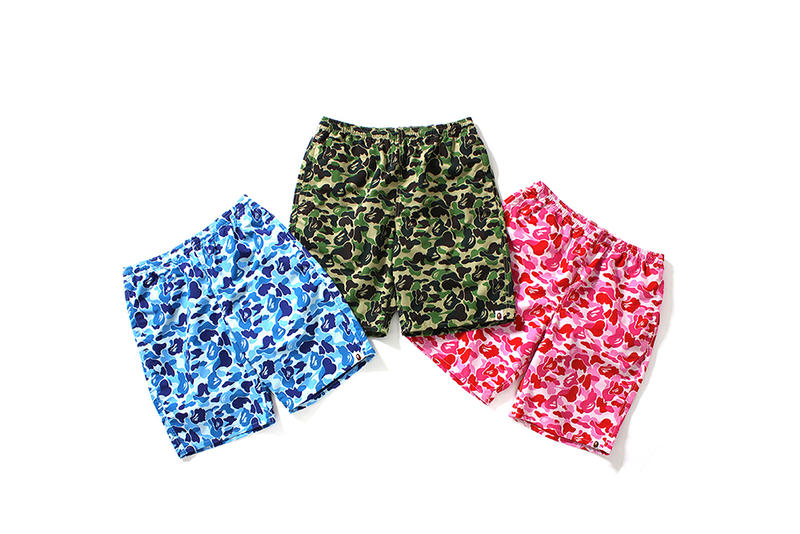 BAPE ABC Beach Pants Camo Print Shorts Bathing Ape