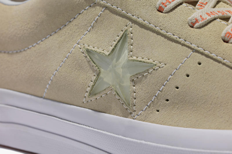 Foot Patrol x Converse One Star collaboration taupe close up shot