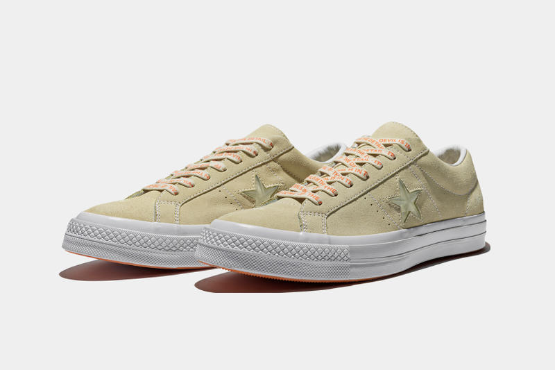 Foot Patrol x Converse One Star collaboration stone three quarter profile