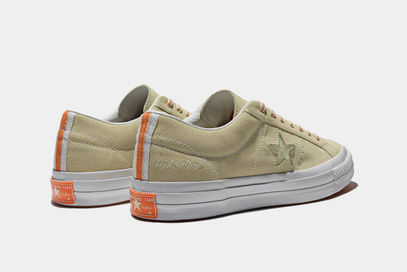 Foot Patrol x Converse One Star collaboration stone backside profile