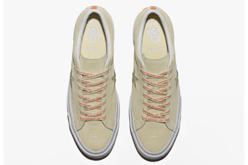 Foot Patrol x Converse One Star collaboration taupe overhead shot