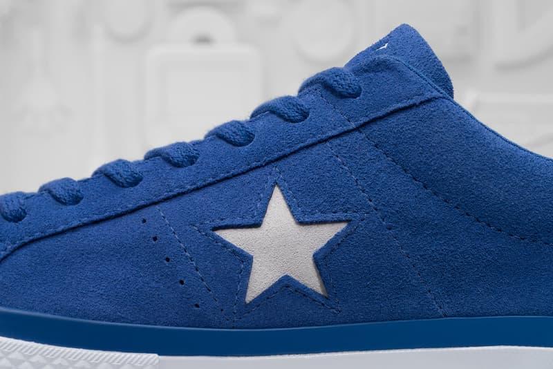 Converse x colette x Club 75 Triple C Collaboration One Star blue side close up