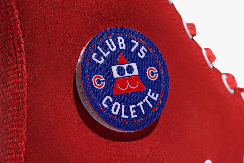 Converse x colette x Club 75 Triple C Collaboration red Chuck Taylor '70s velco patch