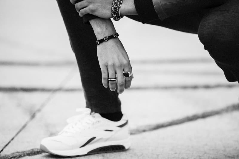David Yurman Forged Carbon Collection Spring Summer 2017 Link Bracelet, Cuff Bracelet, 3 Station Woven Bracelet, Band Ring, Signet Ring