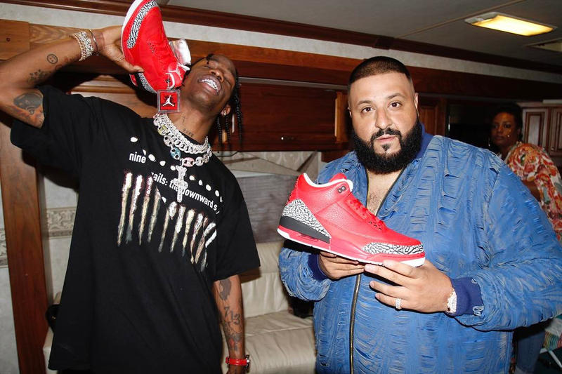 DJ Khaled Air Jordan 3 Grateful red black white