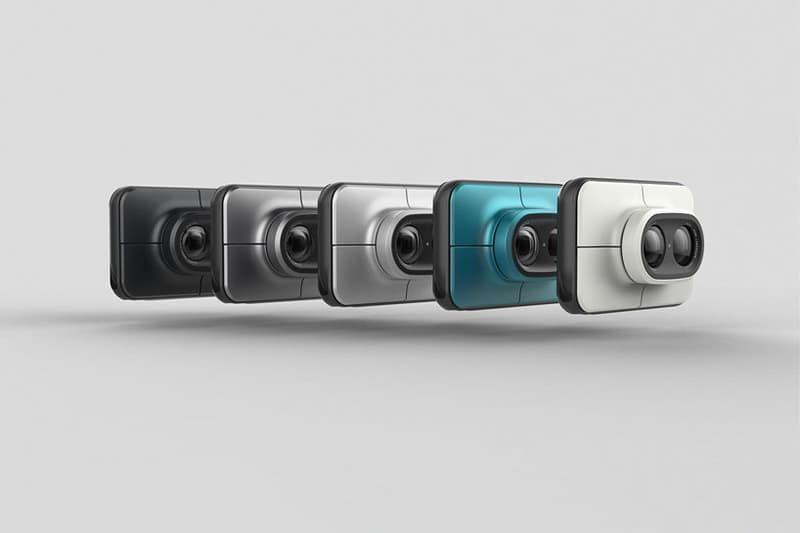 Dual Instant Camera Rotating Lens System Portrait Landscape Photography