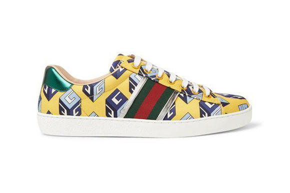 Gucci Ace Sneakers Mr Porter Exclusive Satin
