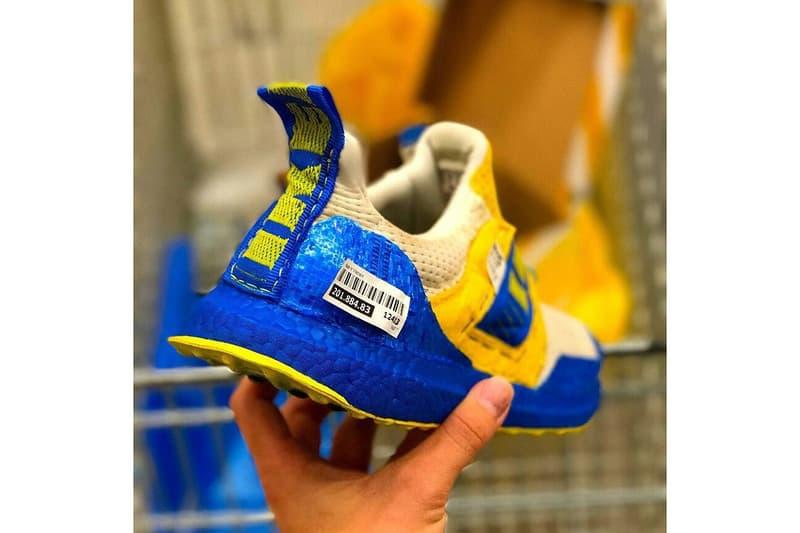 IKEA adidas UltraBOOST Blue Yellow Custom Sneakers