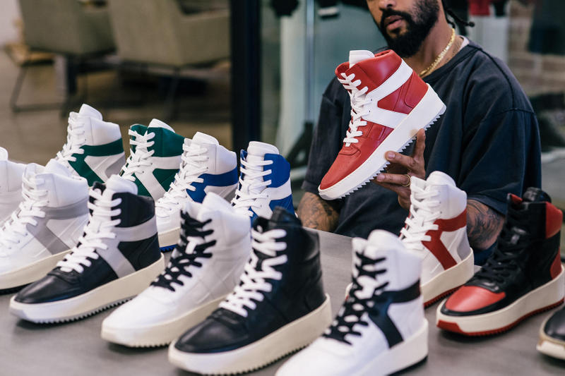 Jerry Lorenzo Fear of God Basketball Sneaker Red Green Blue Bred