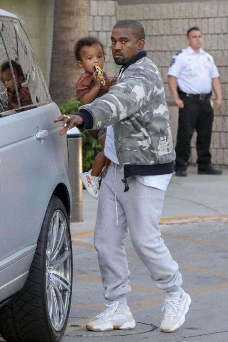 494a017263252 Kanye West Spotted Wearing Another Yeezy Runner