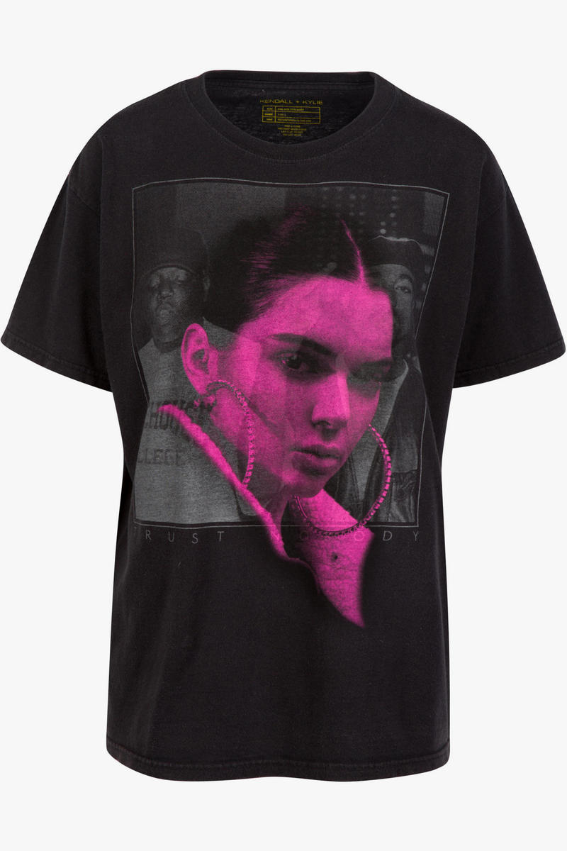 Kendall Kylie Jenner Vintage T-Shirt Collection Tupac Shakur Biggie Smalls Pink Floyd The Doors Apparel Clothing Controversy