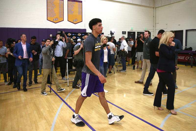 Lonzo Ball Los Angeles Lakers Workout ZO2 adidas Harden Vol. 1