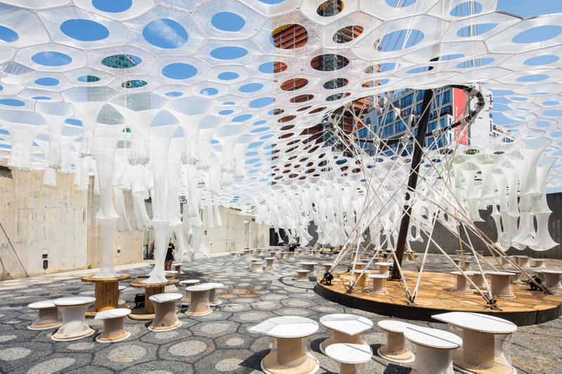 Jenny Sabin Lumen Installation MoMA PS1 Artwork Architecture Design